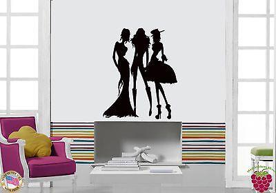 Wall Sticker Fashion Models Girls Females Cool Modern Decor  z1453