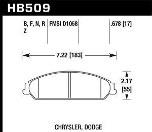 Disc-Brake-Pad-Set-R-T-Front-Hawk-Perf-HB509F-678