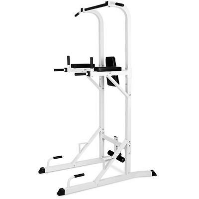 VERTICAL CHIN PULL UP ARM DIP STATION KNEE LEG RAISE MULTI GYM PUSH UP SIT UPS