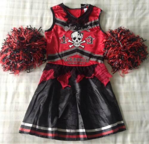 Teen Girls Halloween Zombie Cheerleader Outfit//Fancy Dress Up Costume 15-16 Yrs