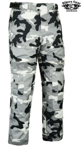 NEW CAMO CORDURA MESH LINED MOTORCYCLE PANTS DUAL LINER CE ARMOUR ALL SIZES