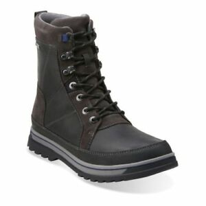 ef12864eef7 Details about Clarks Mens Ripway Peak GTX Gore-Tex Rugged Black Walking  Hunting Boots