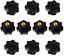 BETOY 10 pcs Knob Grip,Black Plastic Star Shape Head M8 Female Thread Clamping K