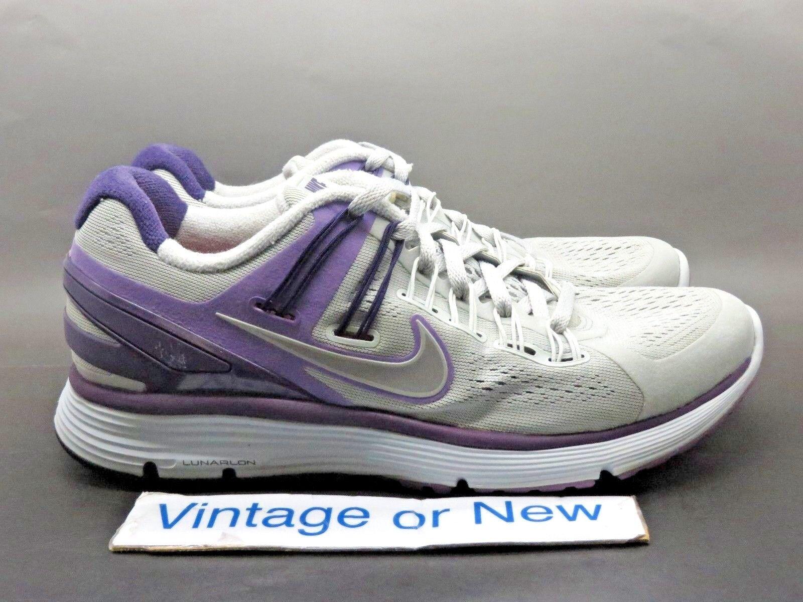 Women's Nike Lunarclipse+ 555398-005 3 Strata Grey Silver Purple Running 555398-005 Lunarclipse+ sz 8 85682c