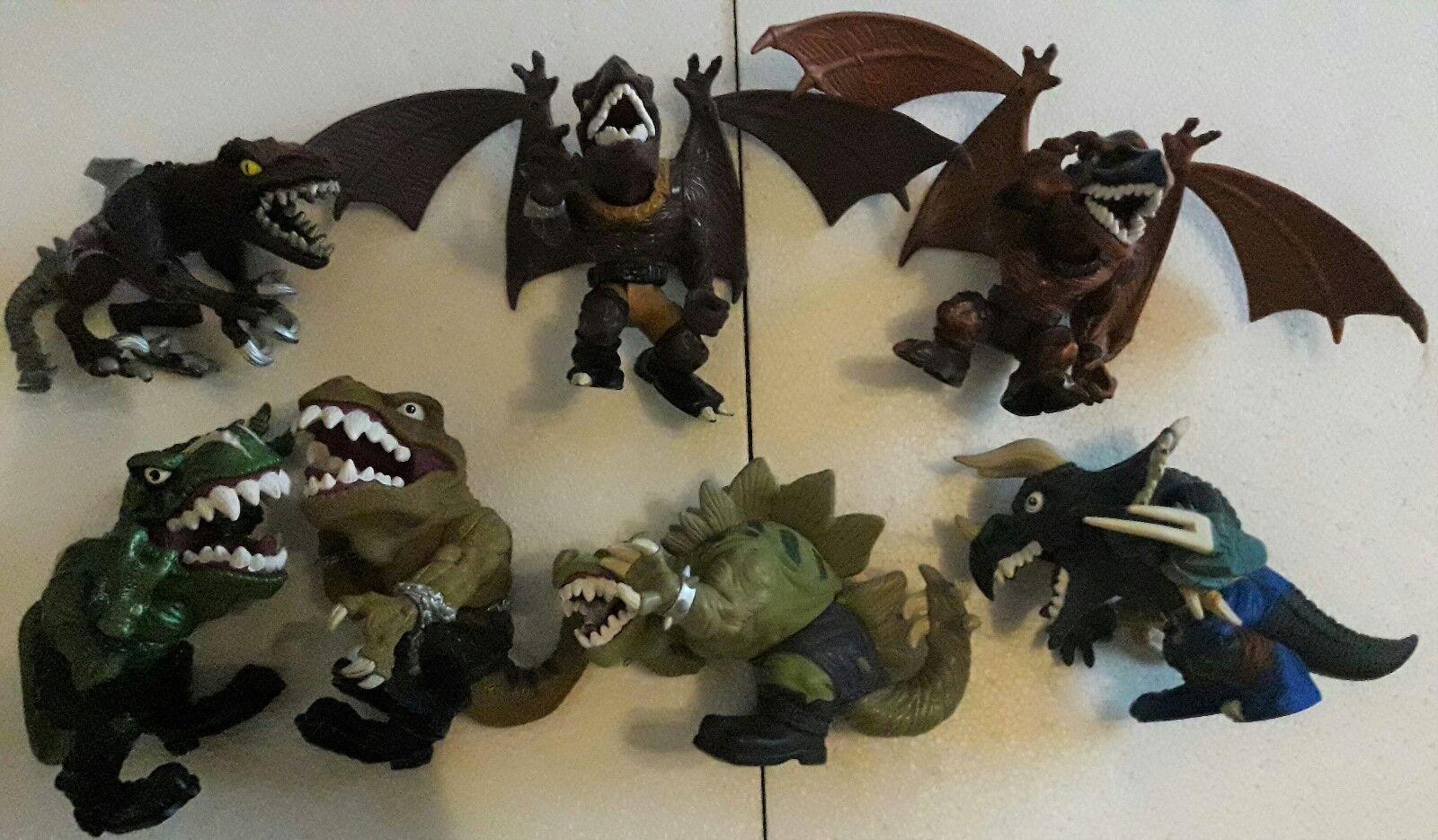 Extreme Dinosaurs Sammlung 7 Figuren T-Bone Mattel Spike Bullzeye Street Sharks