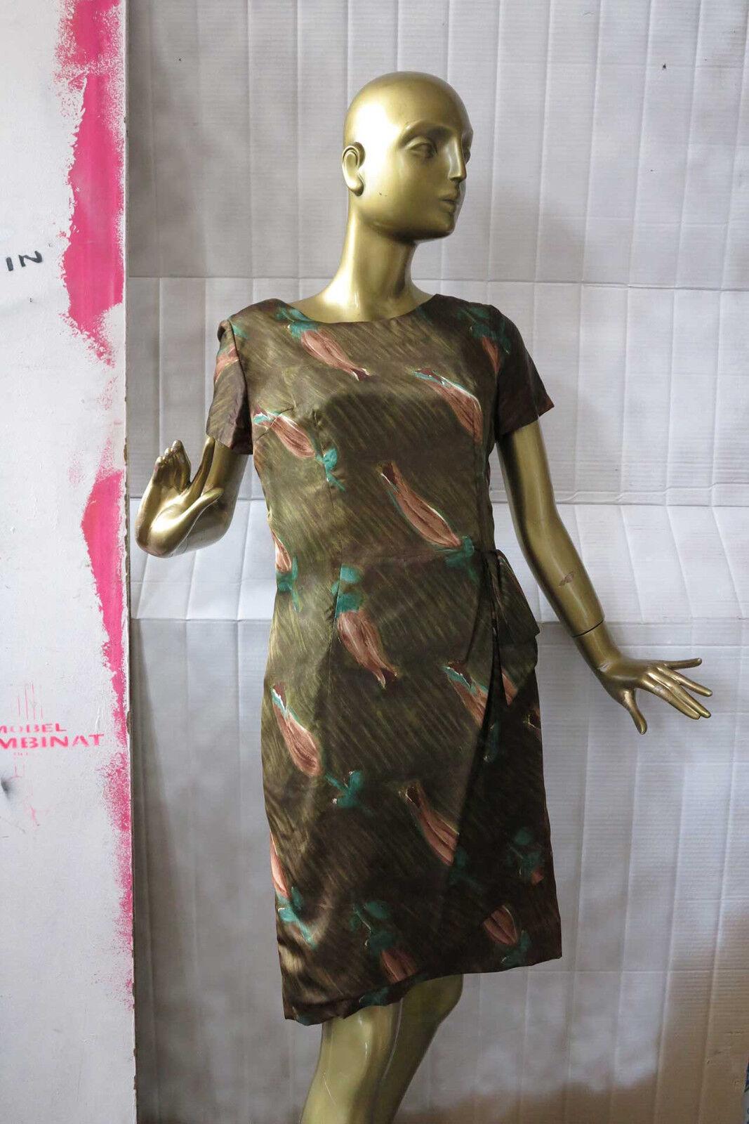 Exquisite Sommerkleid Blaumen Kleid Gr. 40 Floral TRUE VINTAGE 60s summer dress