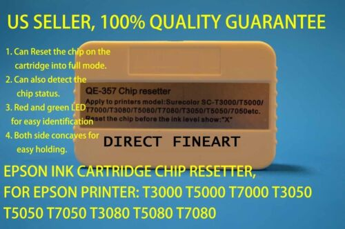 Epson Ink cartridge chip resetter reset T3000 T5000 T7000  tank zz