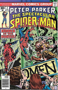 The Spectacular Spider-Man Comic Book #2, Marvel Comics 1977 VERY FINE/NEAR MINT
