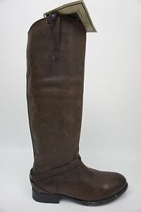 Riding 5b Worn Size Leather Frye Plate Boots Lindsay 5 Cognac High 1YxAEvwq