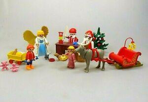 Playmobil-Spielset-Weihnachten-Christmas-Weihnachtsmann-Weihnachtsengel