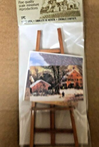 NEW MINIATURE ARTIST EASEL TIMELESS MINIS FOR  DOLLHOUSE OR CRAFT
