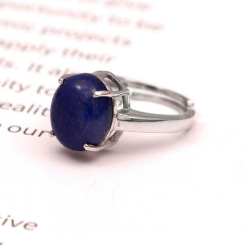 Details about  /Lapis Lazuli Simple Ring 925 Sterling Silver Vintage Boho Gift for Her Women
