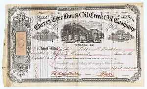 CHERRY-TREE-RUN-amp-OIL-CREEK-SIGNED-by-FUTURE-NYC-MAYOR-WH-WICKHAM-18-000-SHARES
