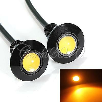 2pcs 3W LED Eagle Eye Amber Light Daytime Running Car Fog DRL Tail Backup Motor