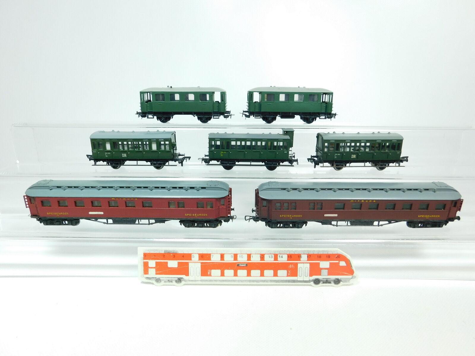 BP754-2x Piko H0 DC Bastler-Wagen  Speisewagen Mitropa 772 + 530-303 DR etc