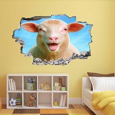 Cute Lambs Sheep Wall Art Stickers Mural Decal Kids Room Home Farm Decor EZ20