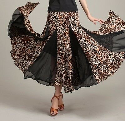 SGS13AP New Women Ballroom Sexy Smooth Tango Flamenco Dance Skirt Costume
