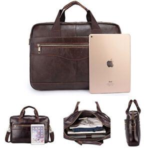 Men-Genuine-Leather-Bag-Briefcase-Laptop-Handbag-Business-Shoulder-Case-Male-Bag