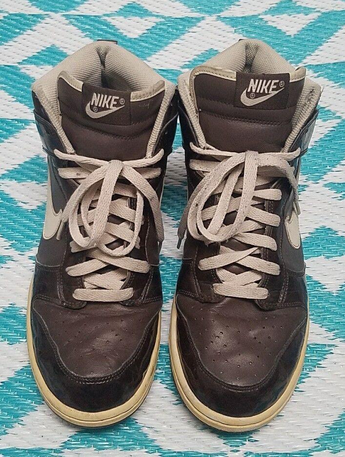 Wild casual shoes Nike Men's 10 Dark Brown Dunk Wood Grain Sneakers Shoes 312786-223