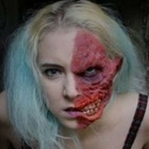 Two Face Latex Facial Prosthetic