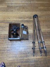 Vintage The A Lietz Co Surveying Transit Level Withwood Case And Wood Tripod
