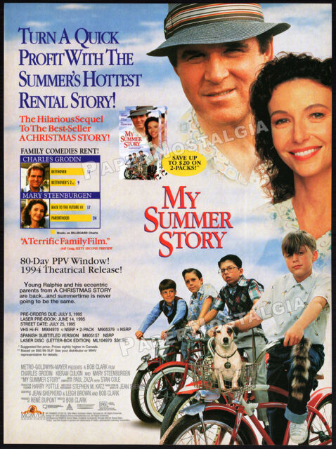 MY SUMMER STORY__Original 1995 Trade print AD promo__CHARLES GRODIN__A Christmas