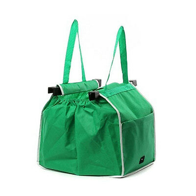 Reusable Ecofriendly Grab Shopping Bag Clip Shopping Cart Supermarket Store