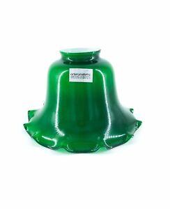 Vetro Di Ricambio Per Lampada Da Tavolo Ministeriale Verde Inglese Ondulato Ebay