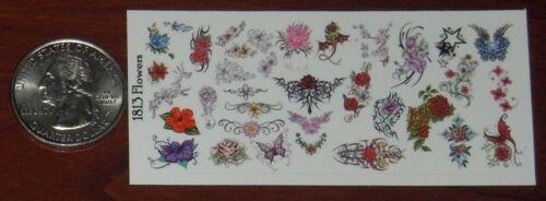 1//18 Scale Custom Tattoos Waterslide Decals Flowers variety pack