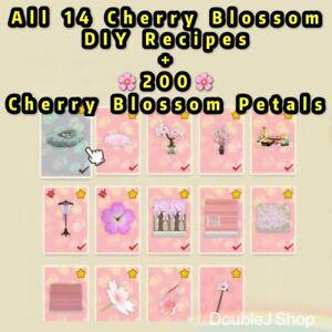 Animal Crossing All 14 Cherry Blossom Diy Recipes 200 Petals Fast Delivery Ebay