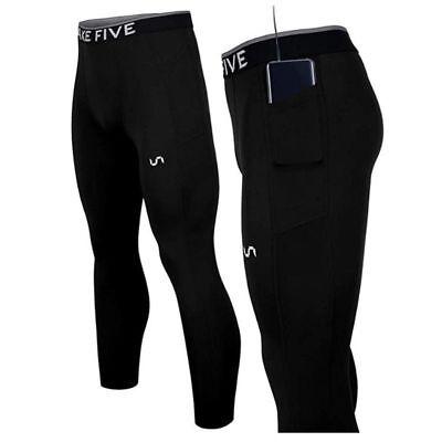 Take Five Mens Side Pocket Skin Tight Compression Layer Pants Leggings Z814