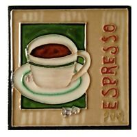 Espresso Art Tile 4x4 Decorative Ceramic Backsplash Caffeine Coffee