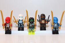 NEW LEGO NINJAGO: KAI ZANE MORRO COLE JAY AIRJITZU Minifigs Minifigures ZX Ninja
