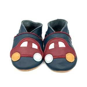 SECONDS-Dotty-Fish-Soft-Leather-Baby-and-Toddler-Car-Shoes