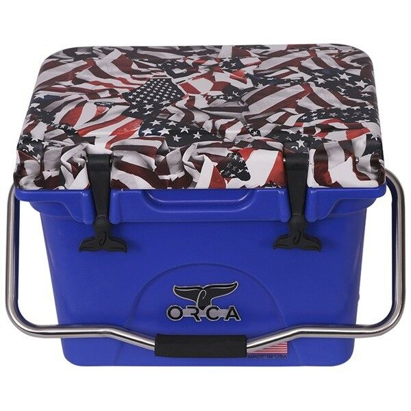 ORCA 20 QT ONE NATION TRADITIONAL COOLER   LIFETIME WARRANTY   AMERICAN FLAG USA