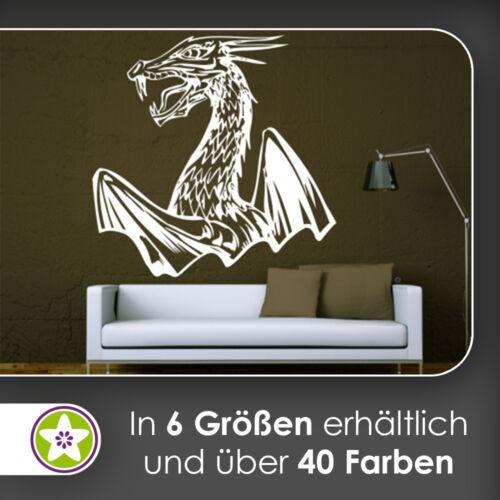 Drachen Flügel Wandtattoo KIWISTAR Aufkleber Wall Sticker waf0008