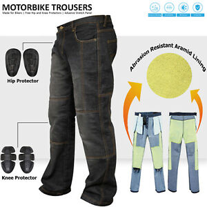 Men-039-s-Motorbike-Motorcycle-Biker-Trousers-Pants-Jeans-With-Protective-Lining