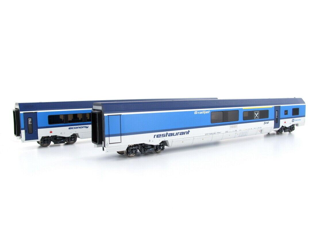 JÄGERNDORFER jc70216 persone Wagenset Railjet CD 2x h0
