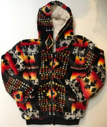Native america super soft kids jacket with warm plush