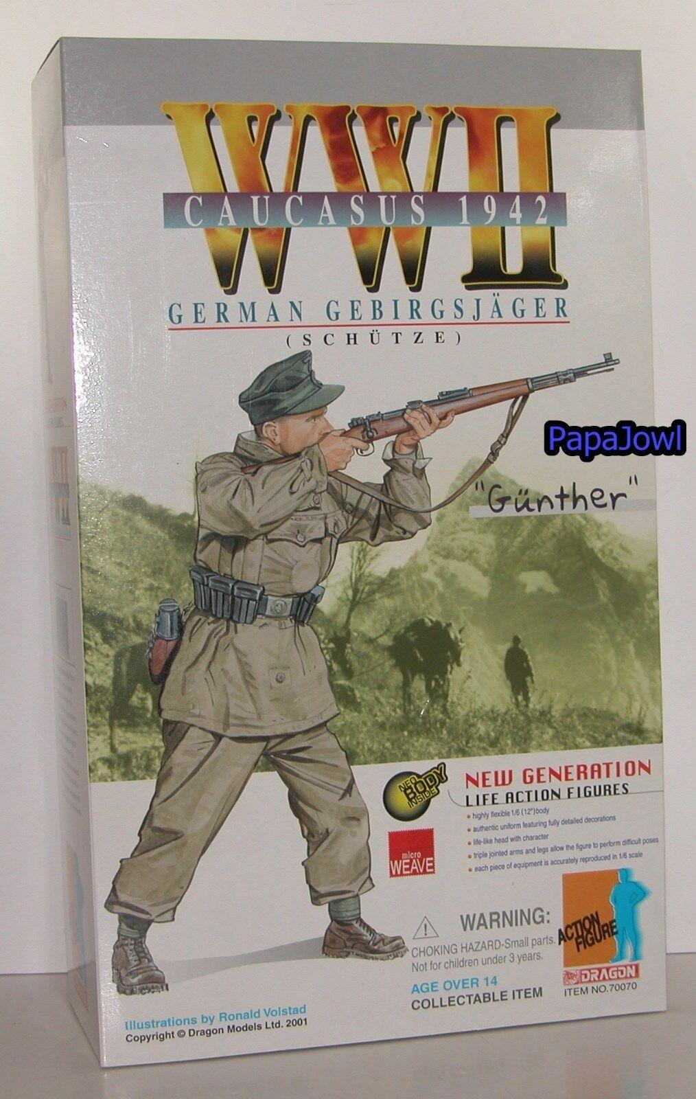 Nueva Generación dragón de la segunda guerra mundial Cáucaso 1942 alemán Gebirgsjager  Gunther  1 6