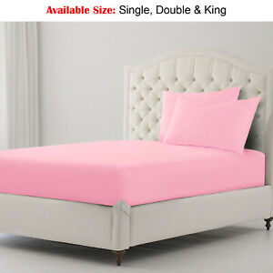 Extra Deep 30cm JERSEY Cotton Fitted Sheet Bed Single Double King Sup.King Size