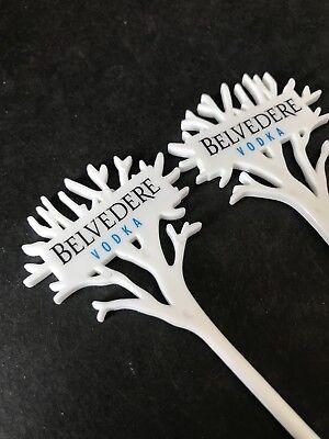 5x Belvedere Vodka Stirrer Kunststoff Rührstäbchen deko Bar NEU OVP Sammler
