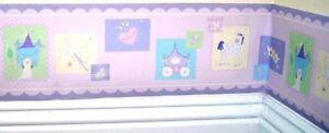 Kidsline-Camelot-Princess-Wallpaper-Wall-Border-10-Yards-Nursery-Girls-Room-New