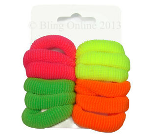 HAIR ELASTICS PONY BANDS ENDLESS SNAG FREE BOBBLES TOGGLES SCHOOL PONYTAIL