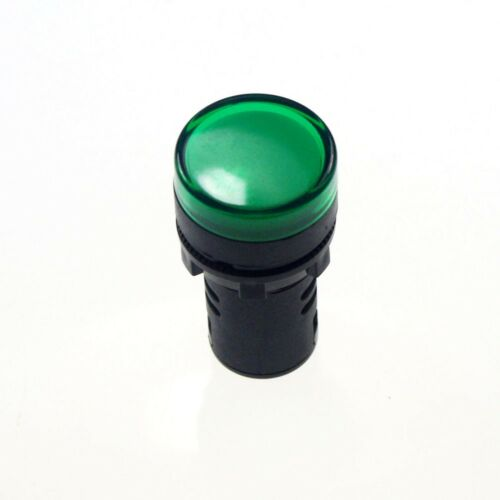 10 PCS Green LED Power Indicator Signal Light 12VDC 50mm Height 22mm Diameter