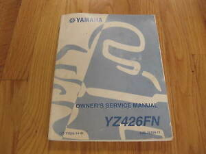 owners service manual for yamaha yz426fn yz426 yz 426 ebay rh ebay com yamaha yz426f service manual pdf yz426 service manual