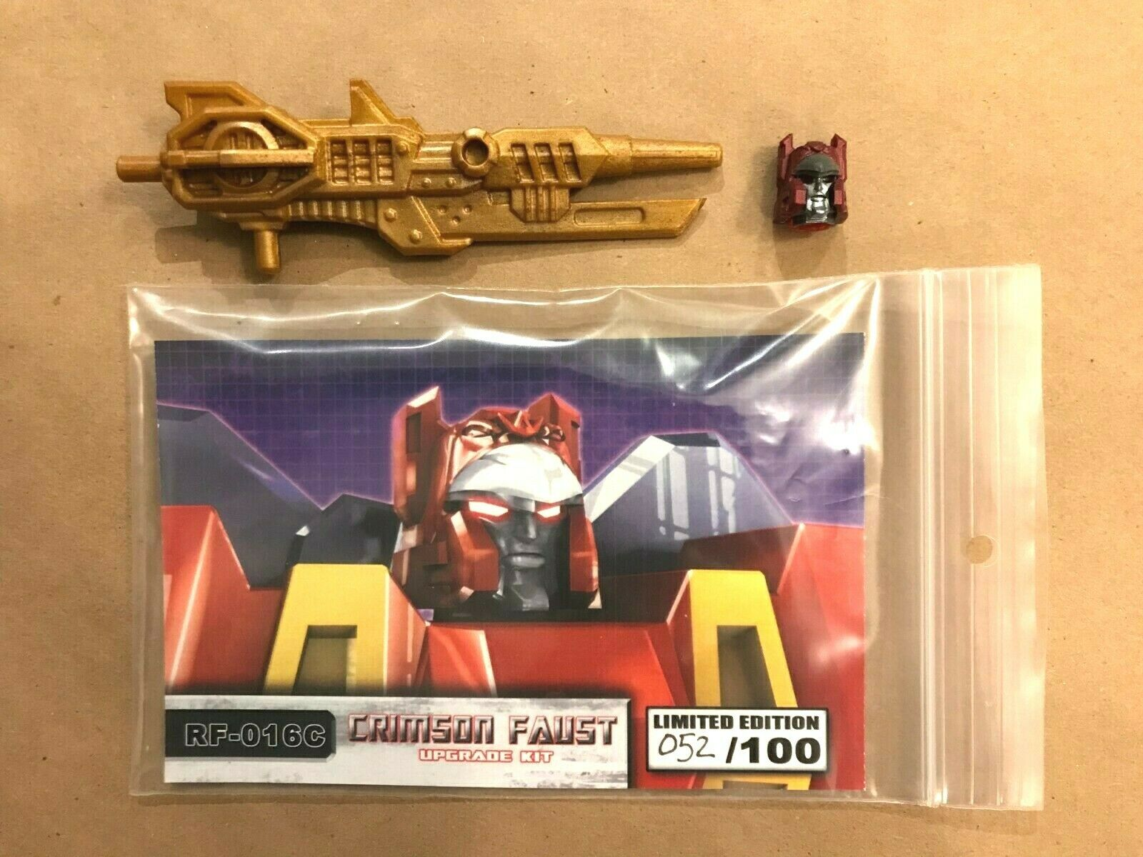 Renderform  RF-016C Crimson Faust Upgrade Kit Transformers Go  budora nouveau  top marque