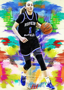 2021 Paige Bueckers Uconn Huskies Basketball 1/25 Art ACEO Print Card By:Q