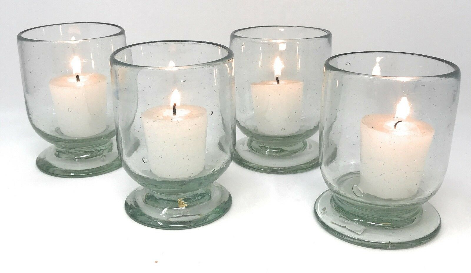 Orion Mexican Glassware Sedona Votive Collection Natural - Set of 4