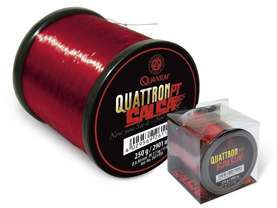 QUANTUM Quattron Salsa   0,25mm - 0,35mm   2131m - 3000m   red monofilament line